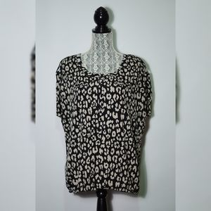 Large alfred sung leopard print blouse -